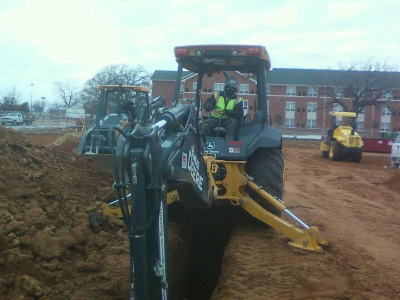 electrical trenching with backhoe