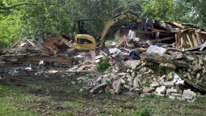 after house demolition