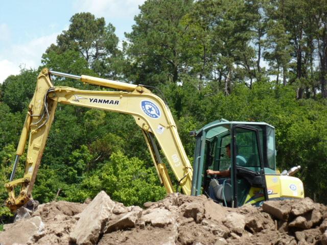 excavator trenching