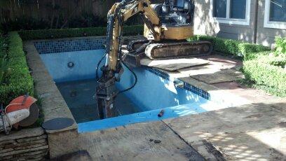 tight access pool demo