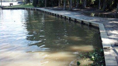 After new bulkhead construction on lake houston