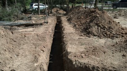 clean straight trenching