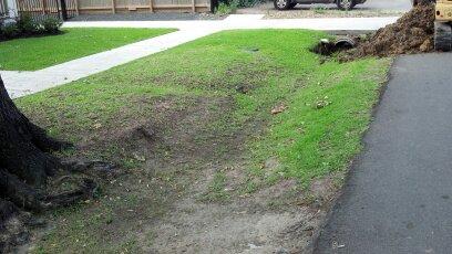 culvert installation for off street parking