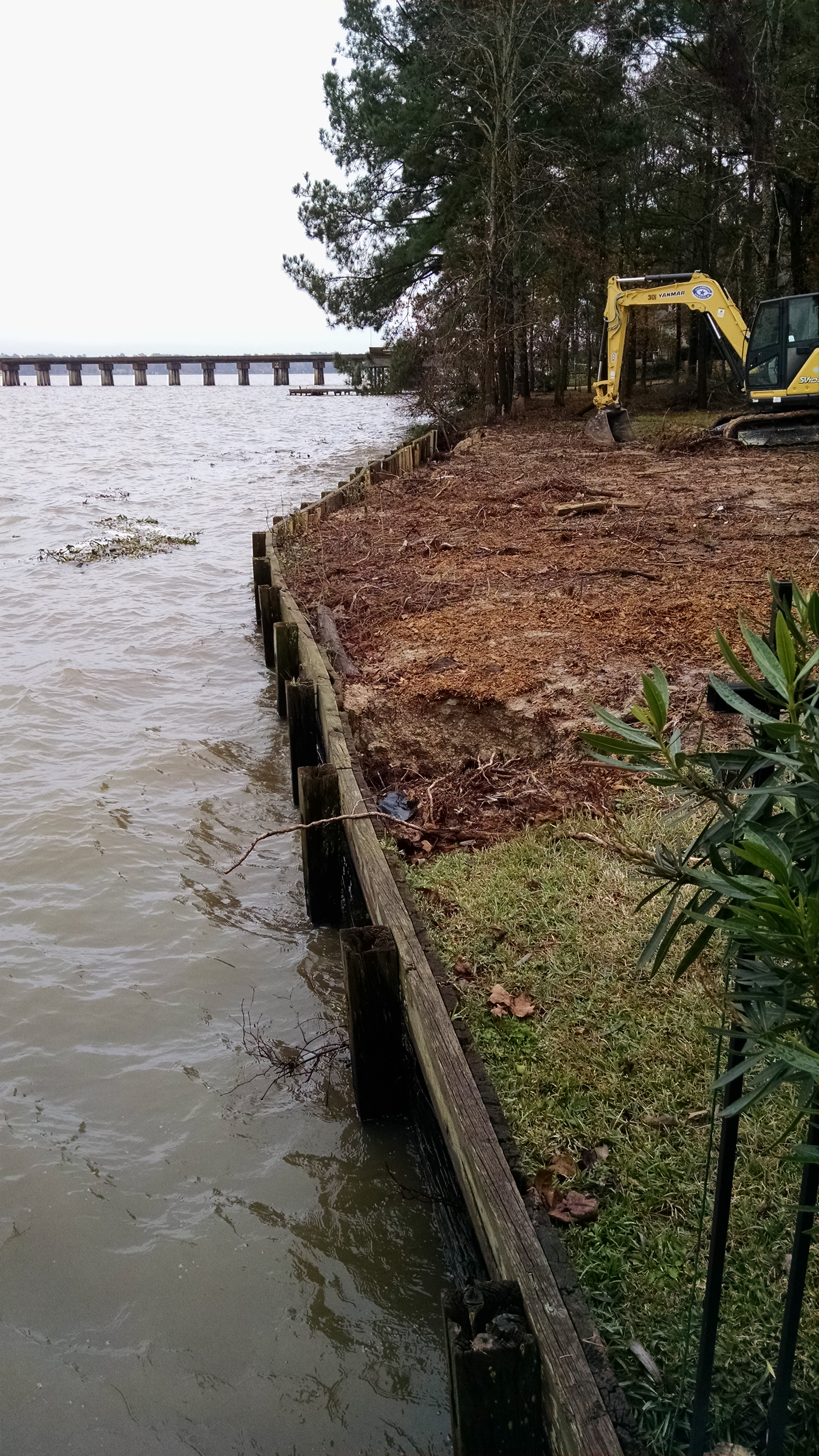 Before of bulkhead replacement on lake houston