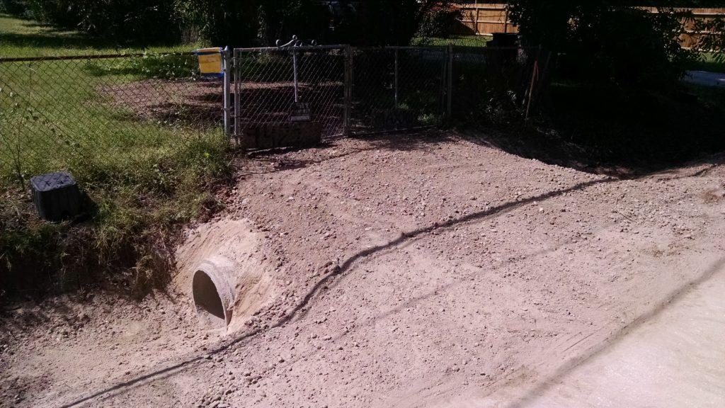 single driveway culvert installation