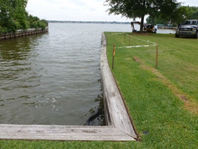 Marine Construction Bulkhead repair and straighten on lake conroe
