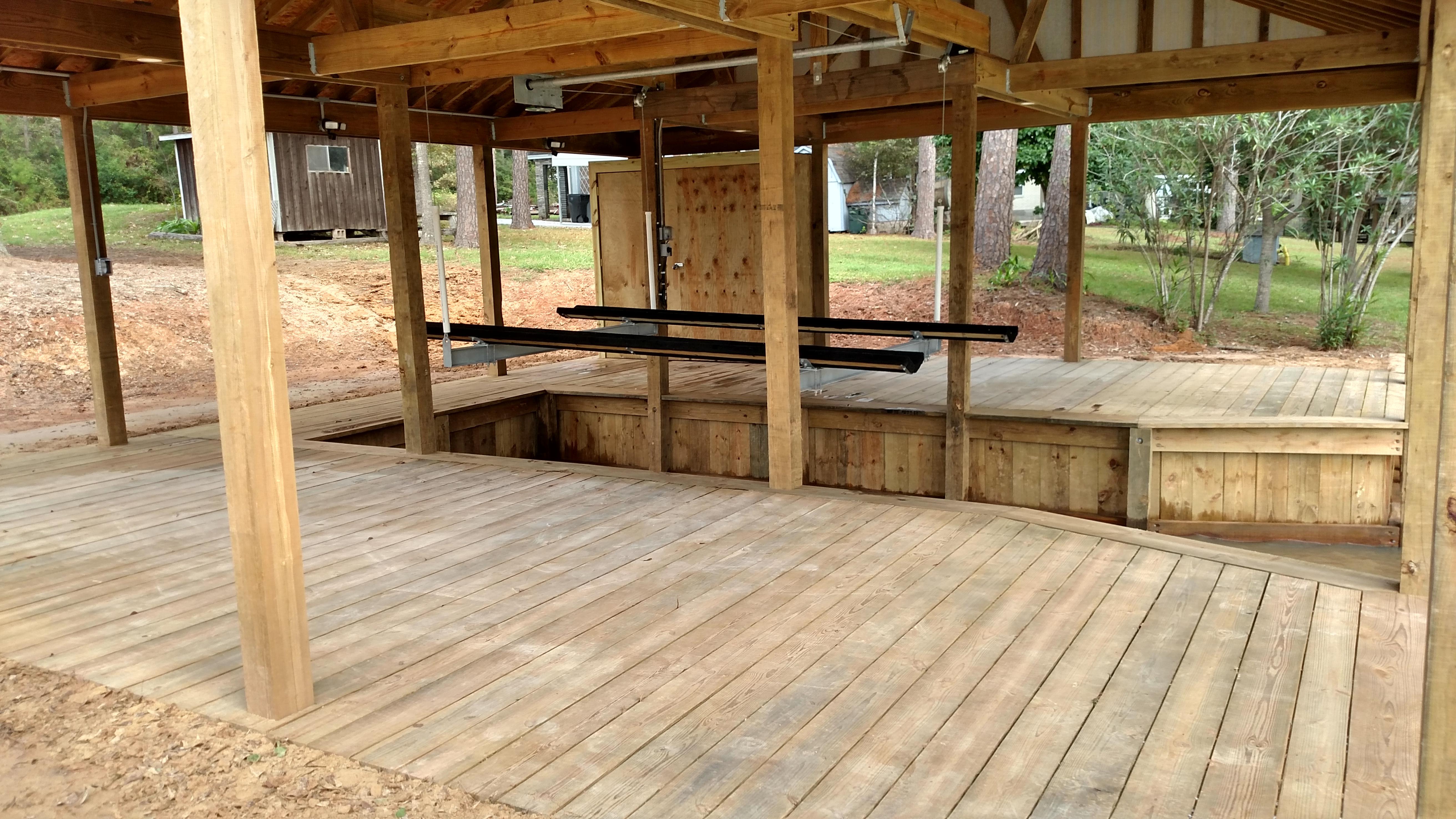 lake Houston deck boat house construction