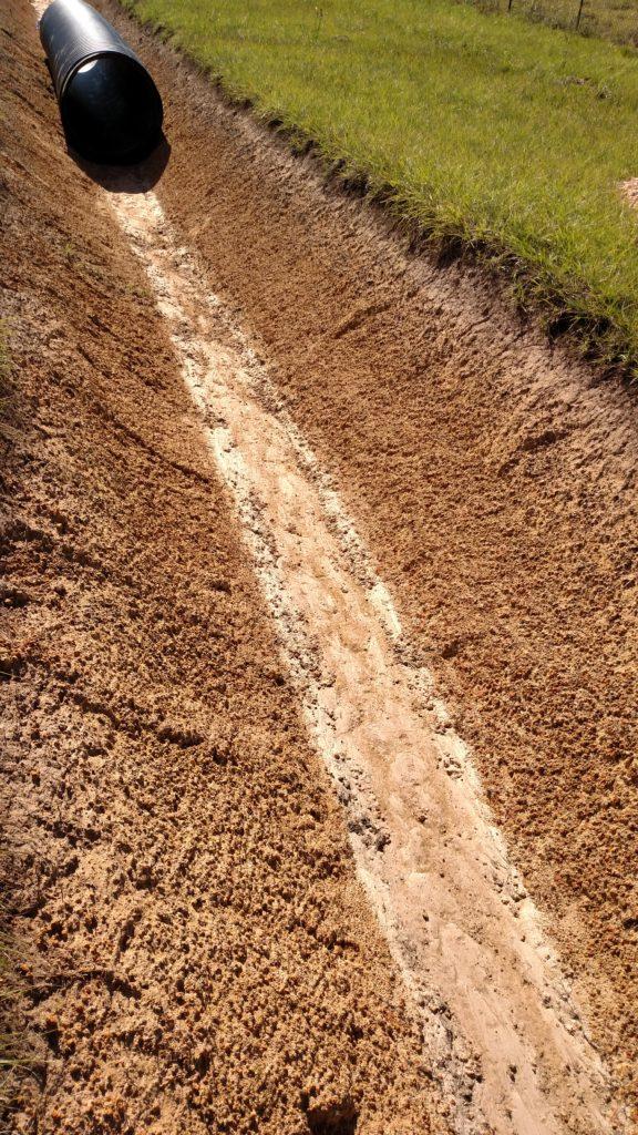 Drainage ditch excavation